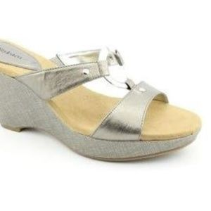 Style & Co Women's Janet Sandal Wedge (10, Pewter)